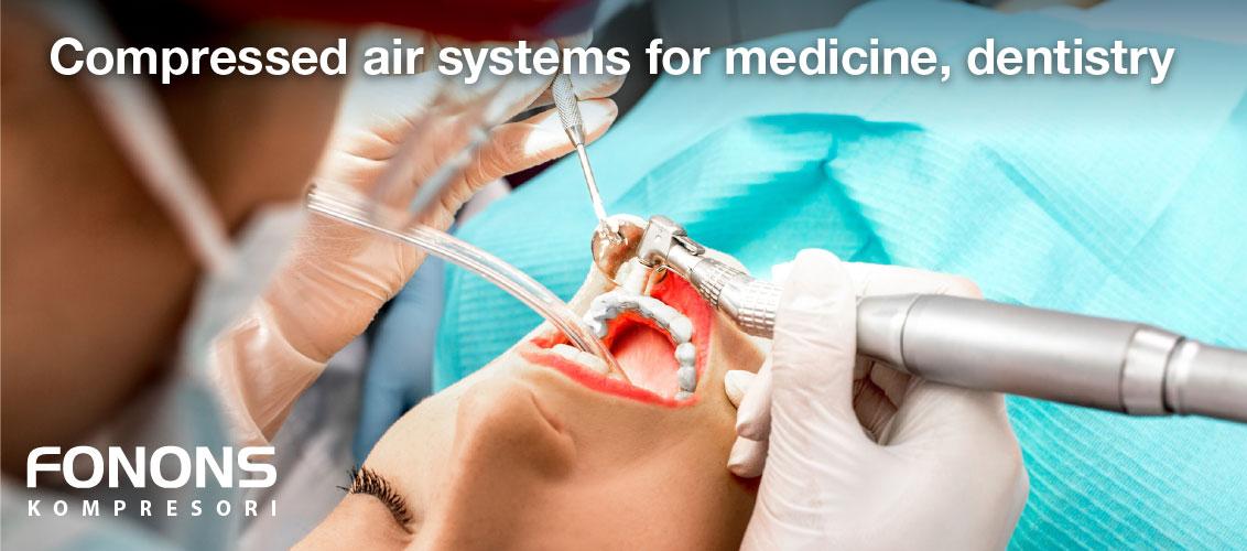 oil free compressors for medicine dentistry